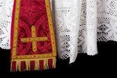 Szata liturgiczna zbliżenie — Zdjęcie stockowe