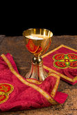 Chalice with vestment set — Stock Photo