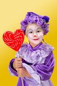 Lolipop kalp — Stok fotoğraf