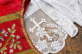 Chasuble and surplice — Stock Photo
