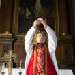 Consecration during catholic mass — Stock Photo