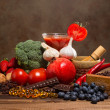 Antioxidants products — Stock Photo