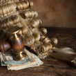 Bribery and corruption in court — Stock Photo