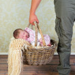 Daddy goes baby shopping — Stock Photo #24363881