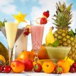 Stock Photo: Decorated smoothies