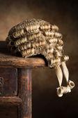 Horsehair judge wig — Stock Photo