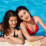 Swimming pool holidays — Stock Photo