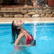 Stock Photo: Water hose fun