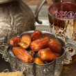 Tea and dates — Stock Photo