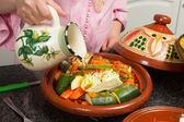 Islamic tajine preparation — Stock Photo