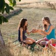 Picnic girls — Stock Photo