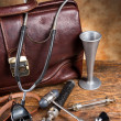 Vintage doctor's instruments — Stock Photo