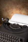 Vintage typewriter with letter — Stock Photo