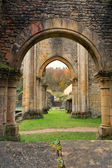 Orval Abbey in Autumn — Stock Photo