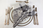Art of napkin folding — Stock Photo