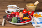 Antioxidants for breakfast — Stock Photo