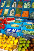 Vegetables at greengrocery — Stock Photo