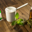 Stock Photo: White tablets of stevia