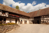19th century farmhouse in Alsace — Stock Photo