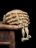 Judge's wig closeup — Stock Photo
