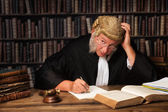 Pensive judge — Stock Photo