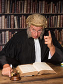 Speech of a judge — Stock Photo