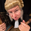 Grumpy judge — Stock Photo