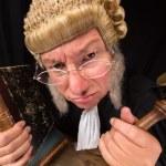 Grumpy judge — Stock Photo