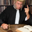 Warning judge — Stock Photo
