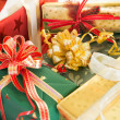 Wrapped presents — Stockfoto