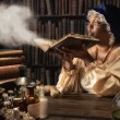 Medieval alchemist — Stock Photo