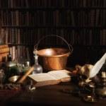 Alchemist kitchen or laboratory — Stock Photo #32188633