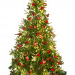 Christmas tree on white — Foto de Stock