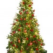 Christmas tree on white — Stock Photo