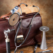 Antique medical instruments — Stock Photo