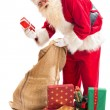 Santa Claus found his gift — Stock Photo #33552119