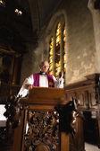 Predigt auf der kanzel — Stockfoto