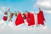 Christmas laundry — Stock Photo