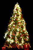 Blurred christmas tree — Stock Photo