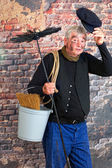 Hello chimney sweep — Stock Photo