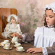 Vintage tea party — Stock Photo