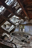 Collapsed roof — Stock Photo