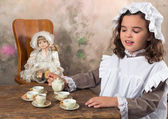 Victorian tea party — Stock Photo
