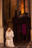 Monk in prayer — Stock Photo