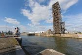 Van Cauwelaert lock in Antwerp — Stock Photo