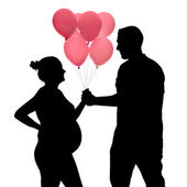 Pink balloons for a girl — Foto de Stock