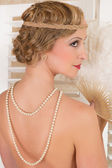 Twenties style hair — Stock Photo