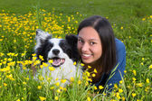 Hiding in the buttercups — Stock Photo