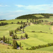 Rolling hills and winding roads in Tuscany — Stock Photo #46785141
