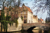 Bridges in medieval Bruges — Stock Photo